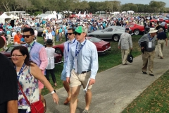 Sunday's Concours crowd for the largest in recent memory.