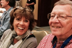 Amelia Island just makes people happy – Lyn St. James and Mike Mereness.