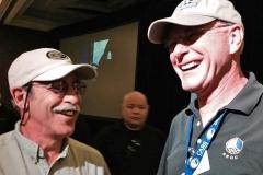 Car restorer Don Breslauer (left) with author Tom Cotter.