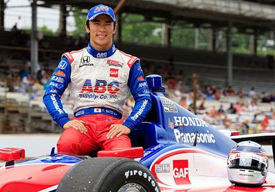 Sato is driving A.J. Foyt's #14 ABC Supply/A.J. Foyt Enterprises Dallara-Honda DW12 this season. [Getty Images photo by Jamie Squire]