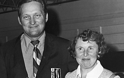 John Bishop and his beloved wife Peg. [Photo courtesy of ISC Images & Archives].
