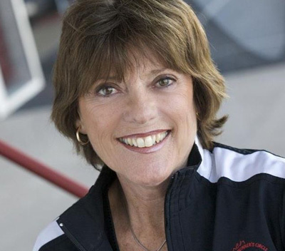 Lyn St. James - activist in creating opportunities for young female race drivers.