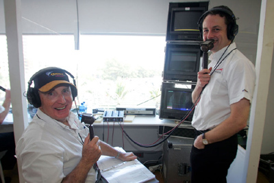 John Watson (left) is but one of Edwards' several noted broadcast partners. [Sutton Images]