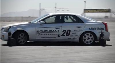 A Bondurant skid car in action. [Bob Bondurant School of High Performance Driving screen grab]