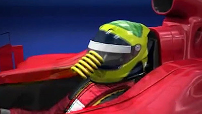 Felipe Massa's helmet saved his life when he was hit in the face shield by a loose spring in Hungary. [SIF screen grab]