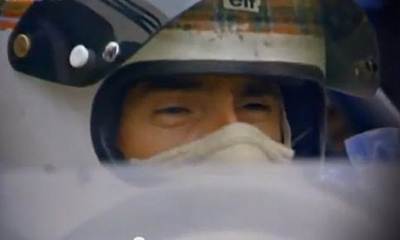 Sir Jackie Stewart led the crusade to improve motorsport safety in the late 1960s and early '70s. Oddly it was not a popular campaign despite motor racing's fatality rate among top drivers being than 20 percent at the time. [This image and all others in this story are screen grabs from SAFEisFAST.]