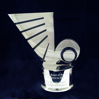 The Award. [Historic Motoring Awards image]