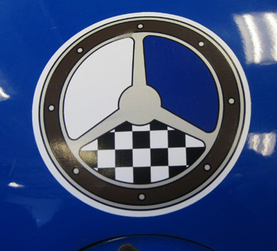 Decal looks good on your racecar, toolbox or helmet.