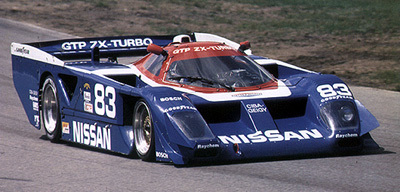 Factory prototypes like this GTP Nissan were the premier category in sports car racing in the 1980s and early '90s.