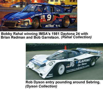 Bobby Rahal and Rob Dyson were great friends of IMSA.