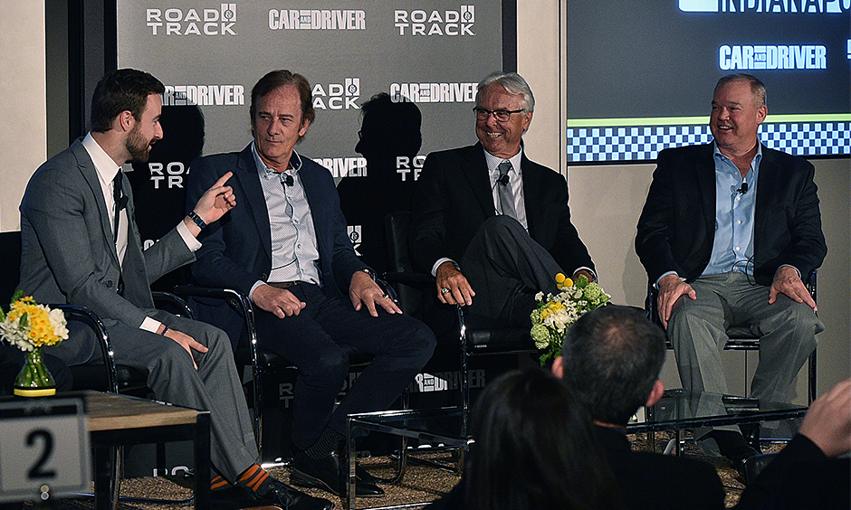 Hinchcliffe, Luyendyk, Mears and Unser (l-r) [Image courtesy of Car and Driver and Road & Track magazines]