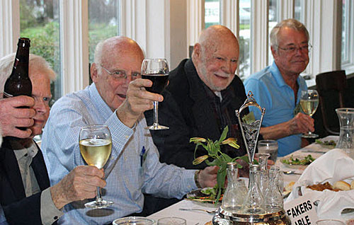 Team Meister Brauser (l to r) Devine, Wuesthoff, Heuer and Pabst. [RK image]