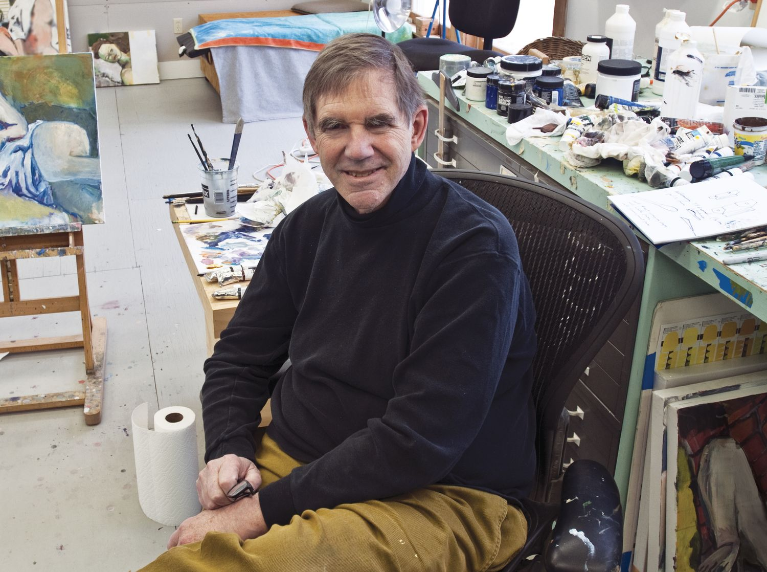 Sam Posey in his studio.
