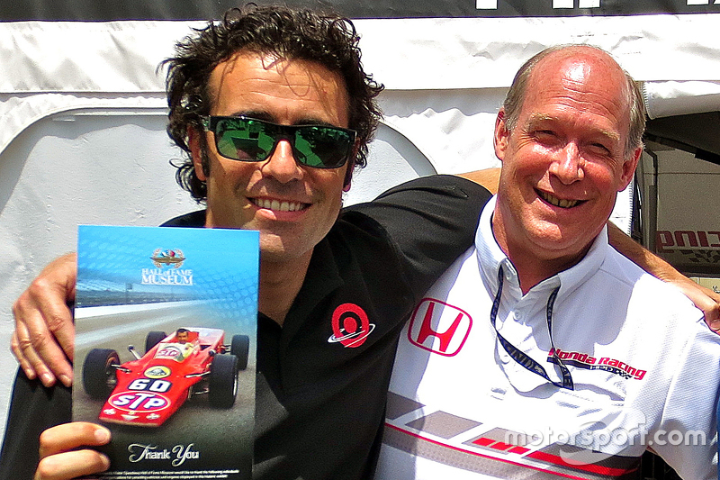 T.E. McHale (right) with Dario Franchitti. [Motorsport.com image]
