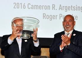 Roger through the looking glass. Bobby Rahal approves. [Ange Lizusso image]