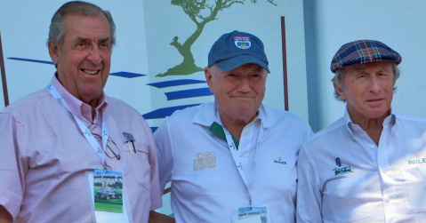 Murray Smith (center) conducted several seminars featuring the likes of David Hobbs (left) and Sir Jackie Stewart. [Lynne Huntting image]