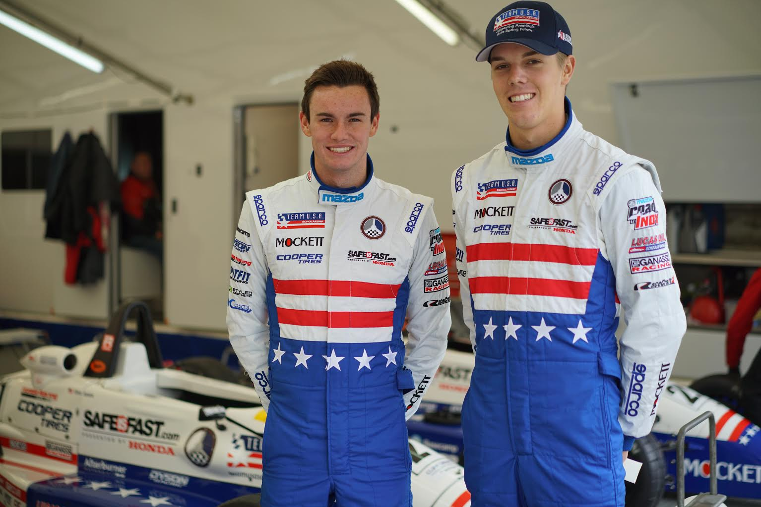 Team USA Scholarship at Brands Hatch: Oliver Askew (l) and Kyle Kirkwood.